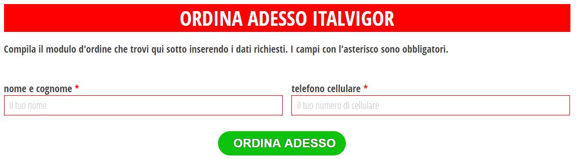 ItalVigor ordine