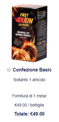 FastBurnExtreme prezzo
