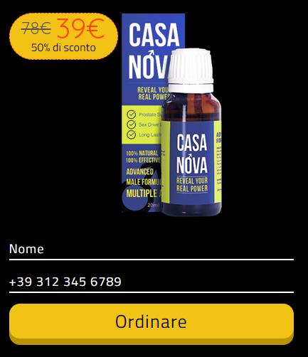 Casanova prezzo