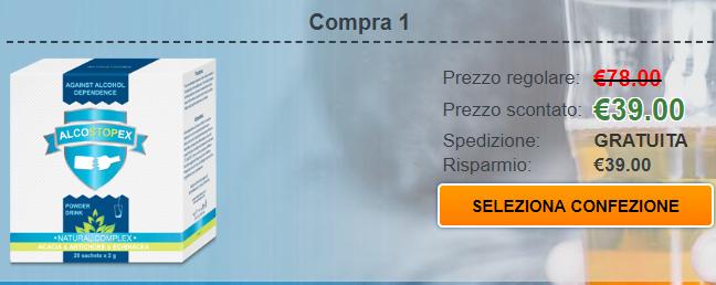 Alcostopex prezzo