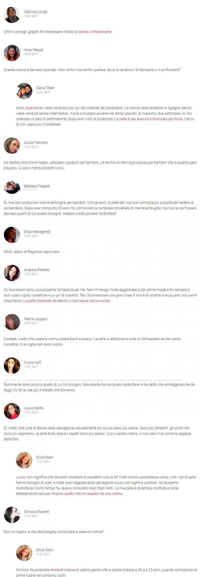 Blog di Bellezza commenti hydroface