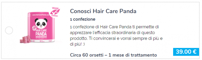 HAIR CARE PANDA prezzo.