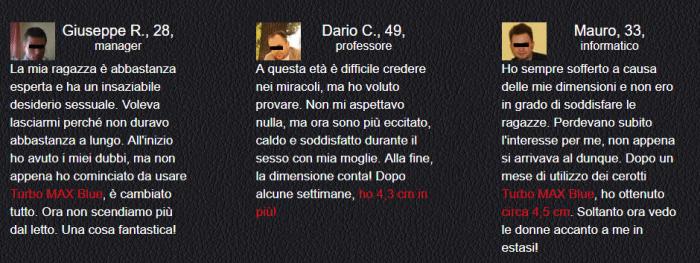 Turbo MAX Blue CEROTTI recensioni opinioni