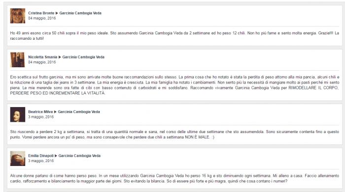 Commenti Garcinia Cambogia