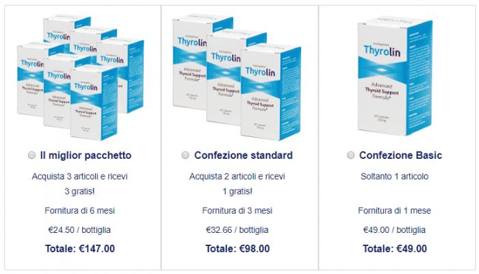 thyrolin prezzo