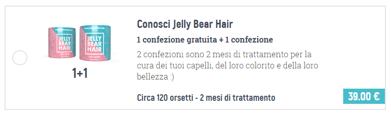 Jelly Bear Hair prezzi