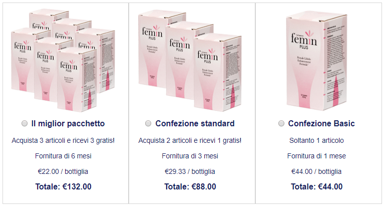 Femin Plus prezzo