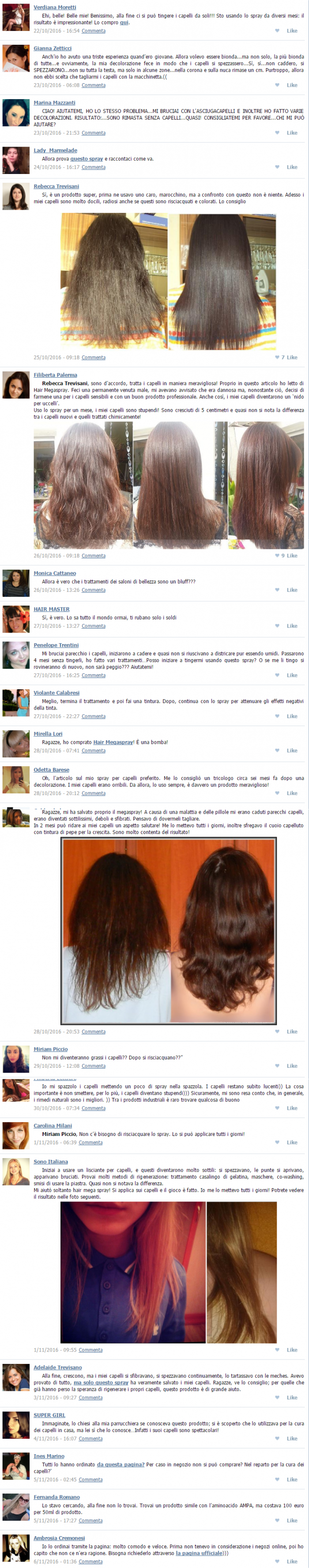 Hair MegaSpray opinioni recensioni