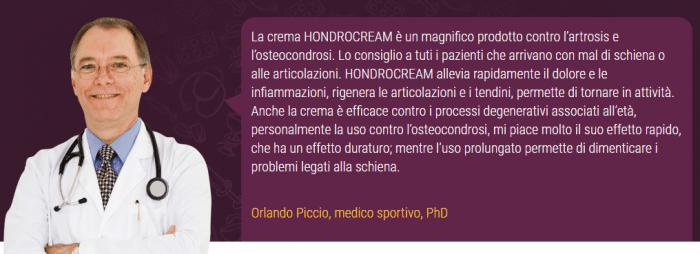 Hondrocream parere medico